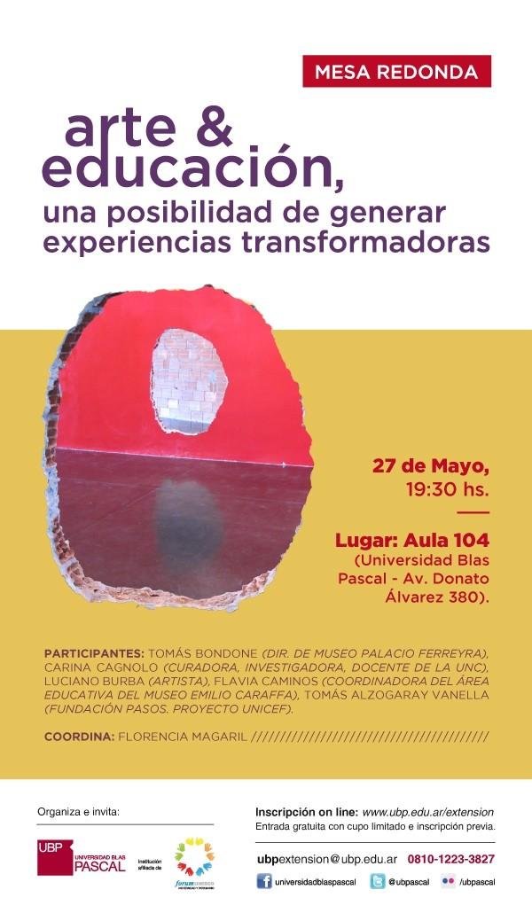 """Mesa Redonda en la UBP: """"Arte + Educación: Una posibilidad de generar experiencias transformadoras"""""""