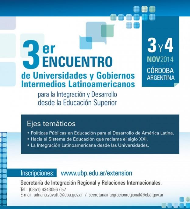3º Encuentro entre Universidades y Gobiernos Intermedios Latinoamericanos en Córdoba