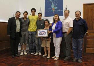 Los alumnos neuquinos fueron recibidos por Zulma Rein, Ministra de Educación.