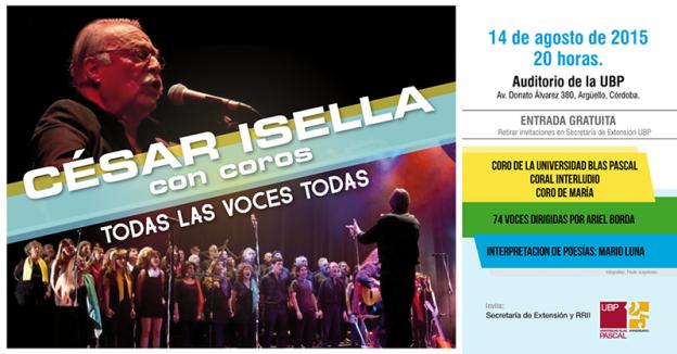 """Cesar Isella con Coros """"Todas las voces Todas"""""""
