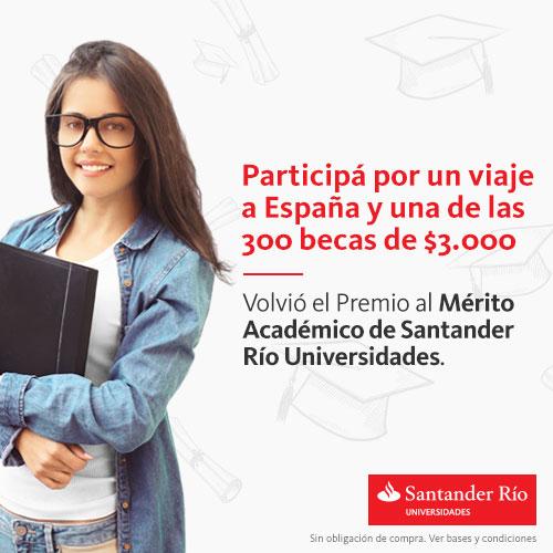 Santander Río: Premio al Mérito Académico