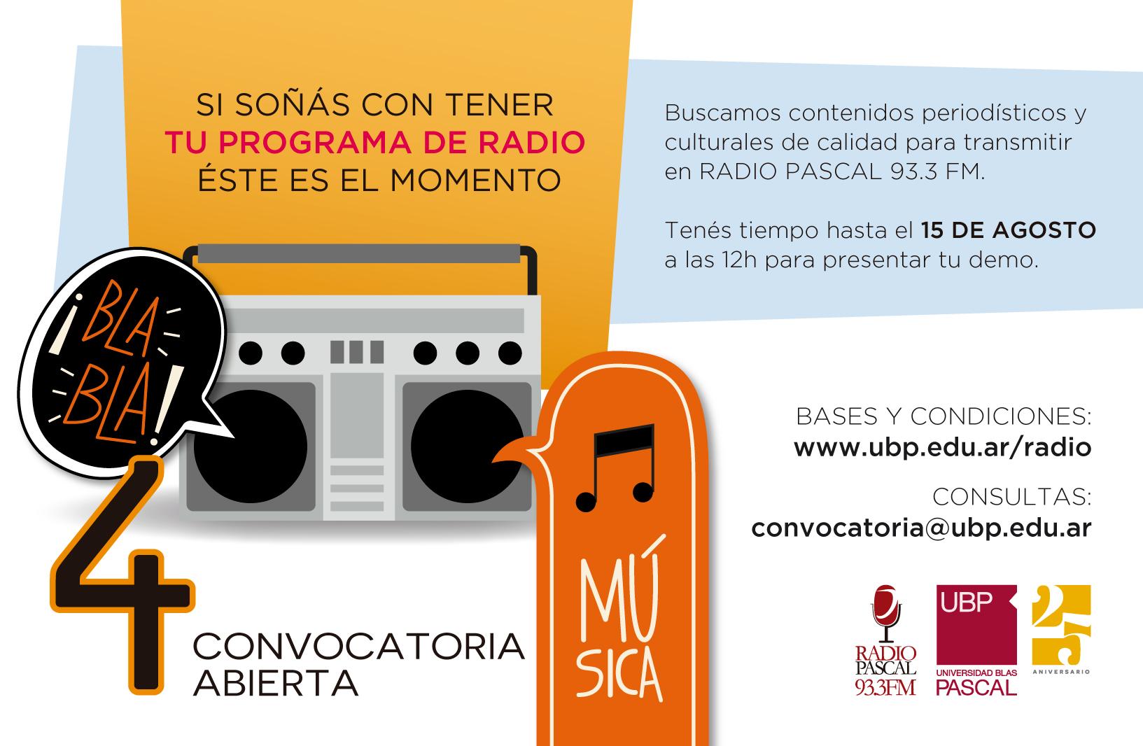 FM 93.3: ¿querés dirigir un programa de radio?