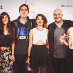 Representantes de Gato Muerto en el Filmapalooza 2015