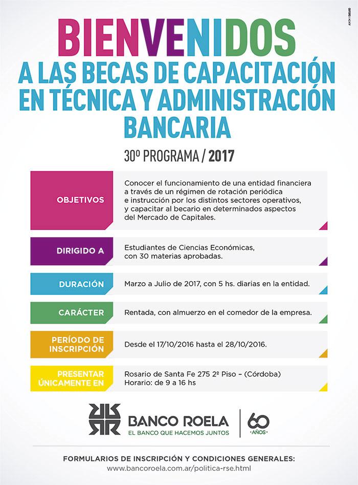 Becas Banco Roela 2017