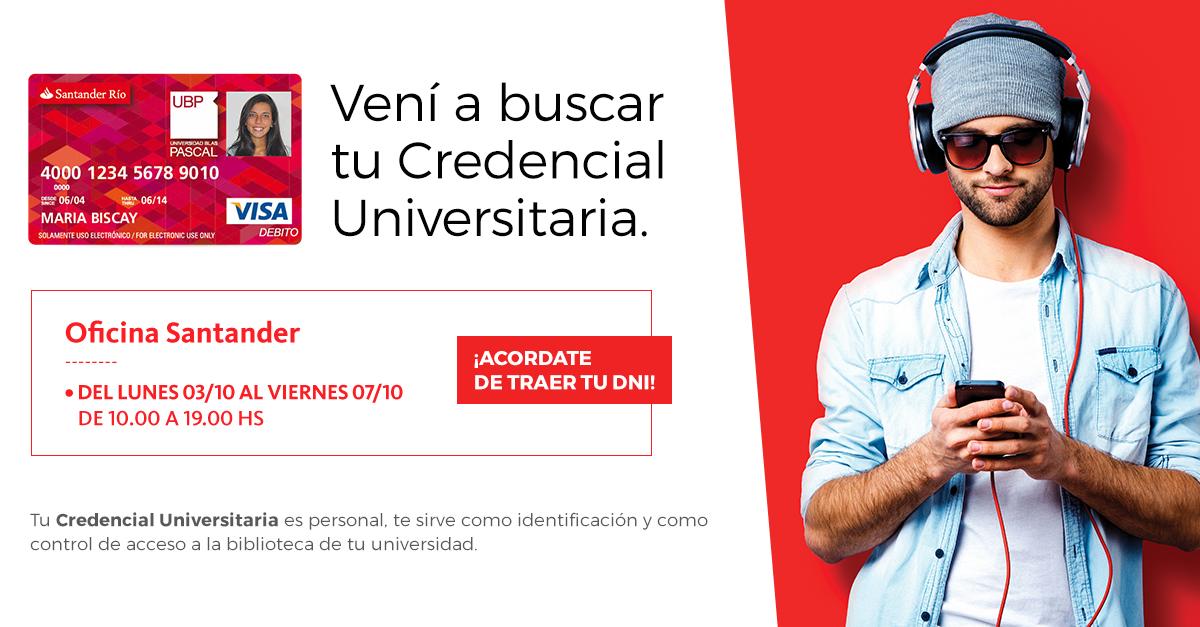 Credencial Universitaria Santander Río