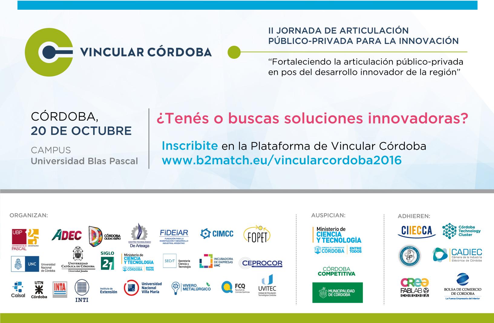 Vincular Córdoba: la UBP es clave en la organización