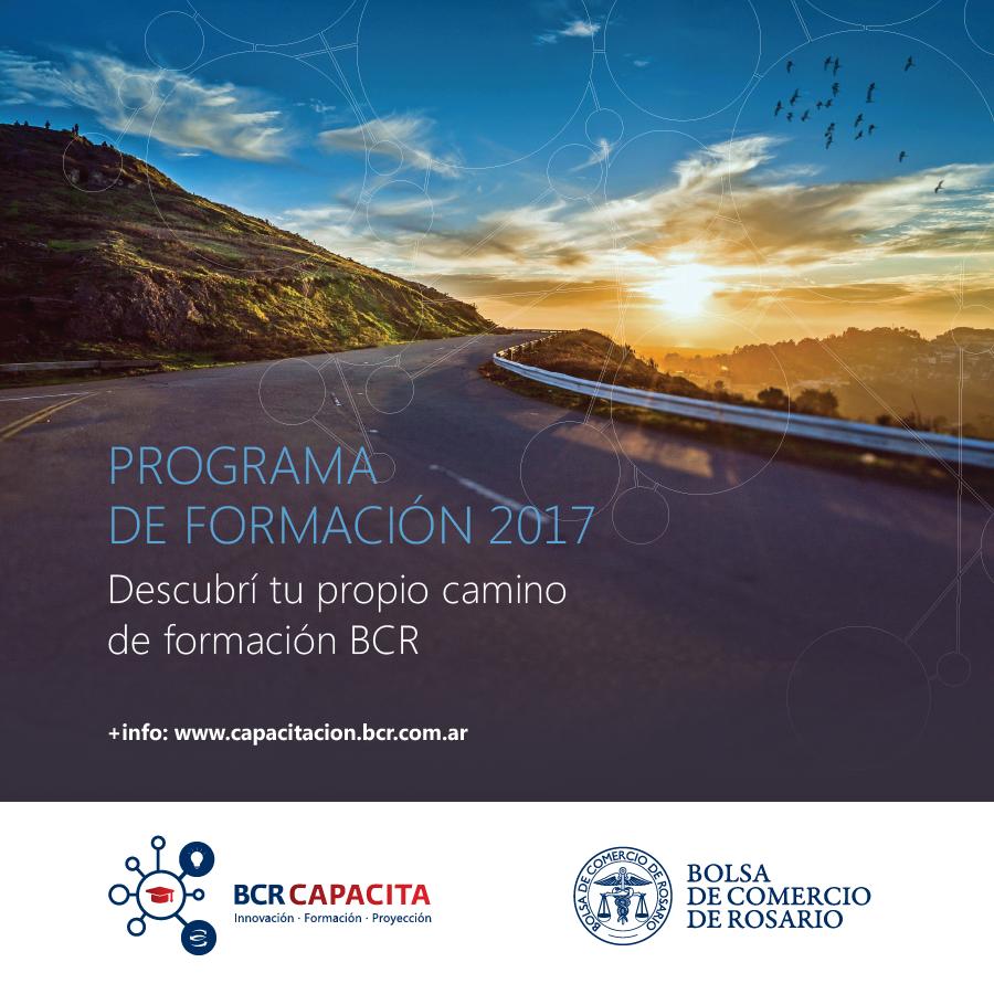 BCR: Programa de Formación 2017