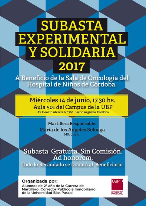 Subasta Experimental y Solidaria