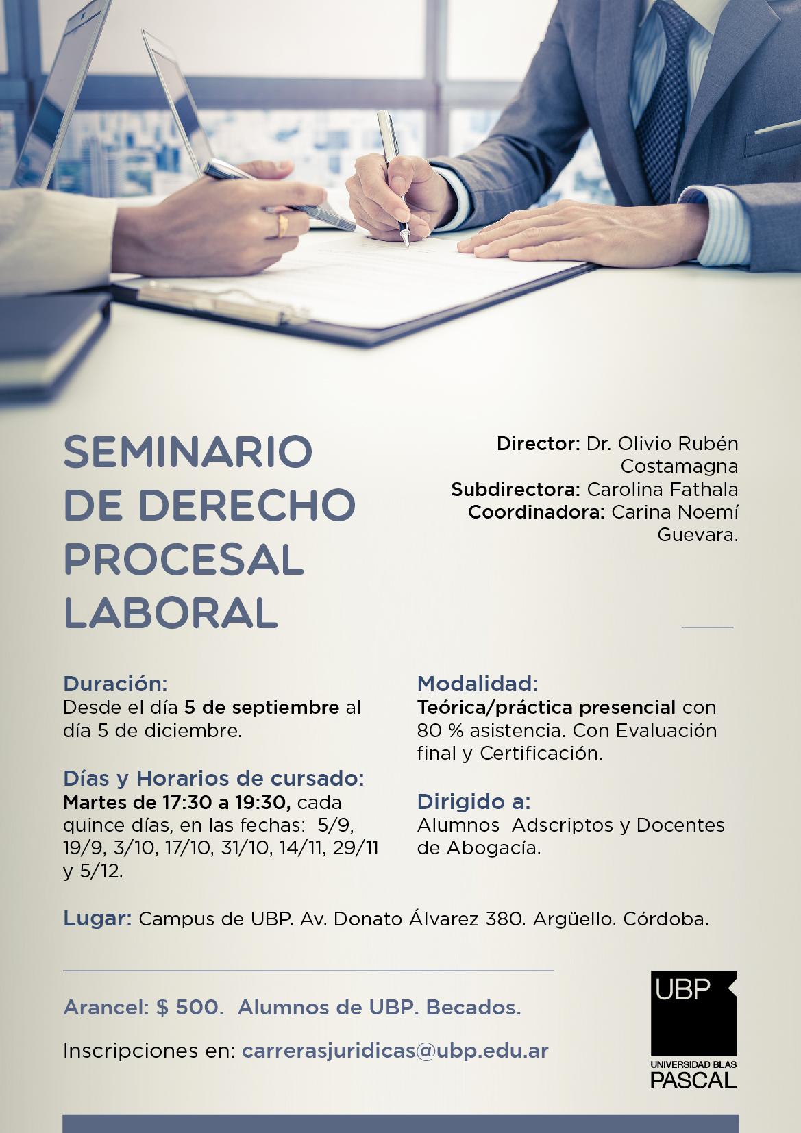 Seminario de Derecho Procesal Laboral