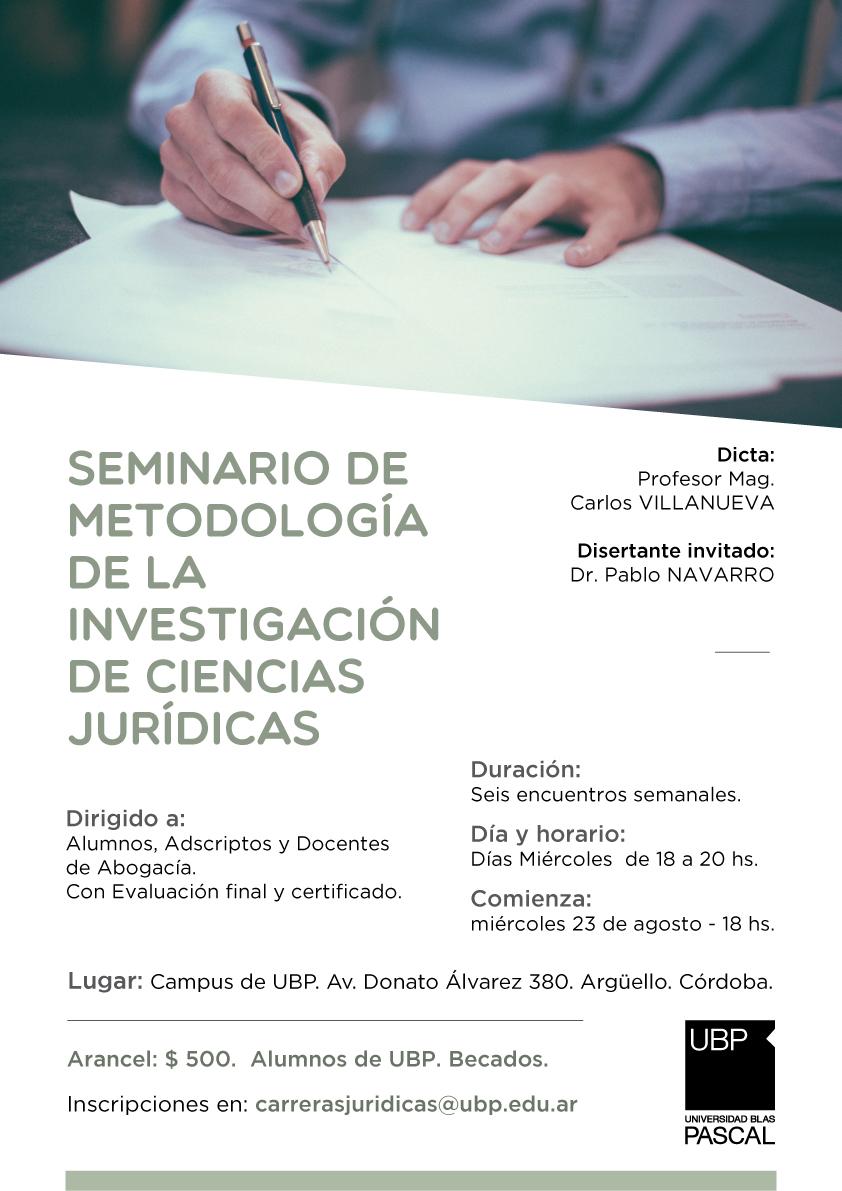 Seminario: Investigación en Ciencias Jurídicas