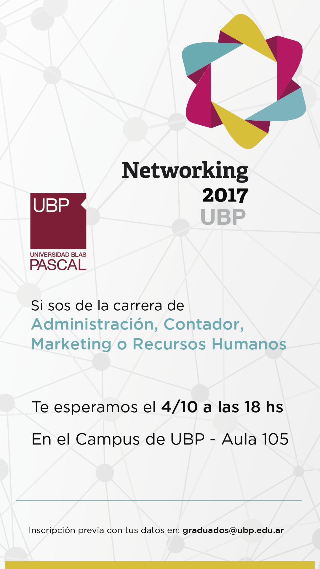 Tercer Networking por carreras UBP