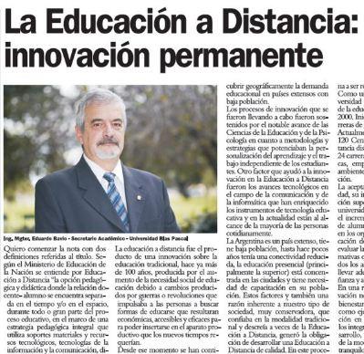 La educación a distancia: Innovación permanente