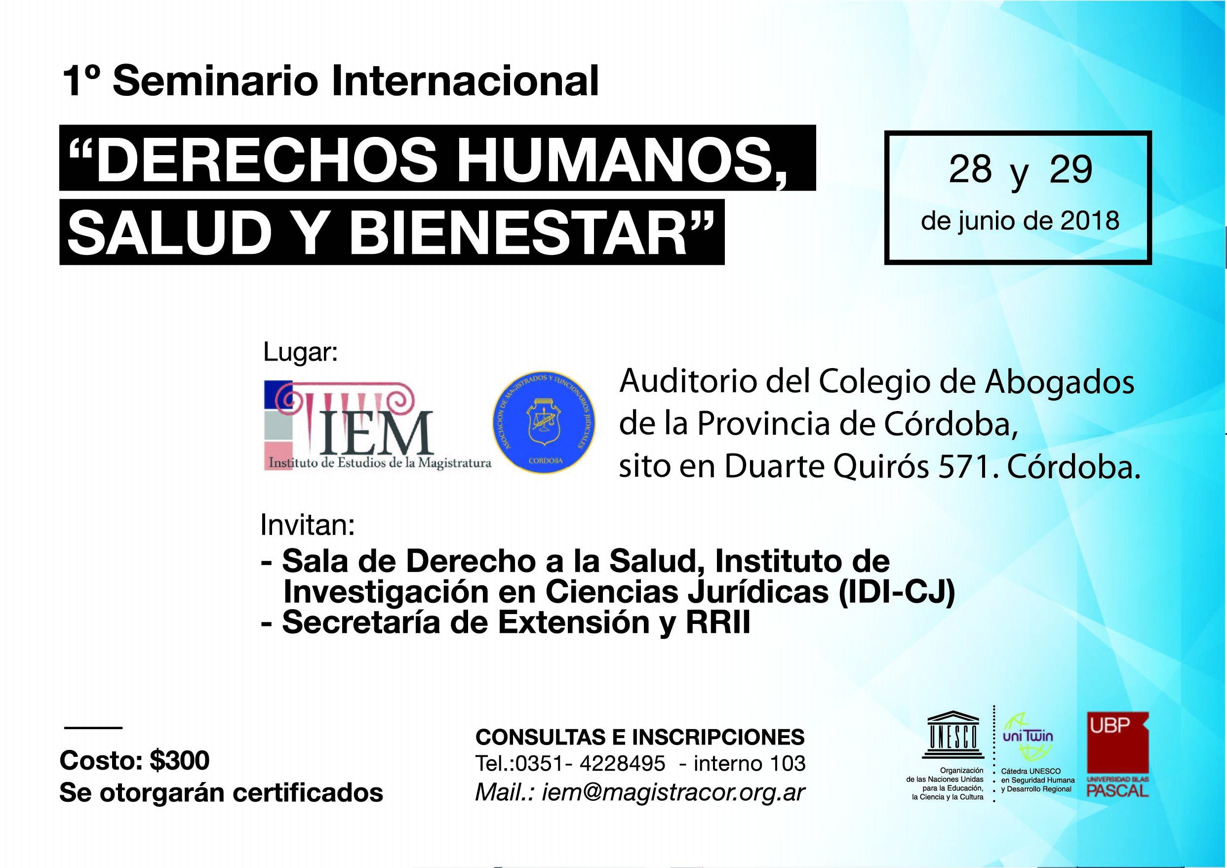 Seminario Internacional de DDHH, Salud y Bienestar