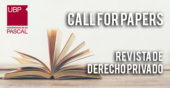 Call For Papers – Derecho Privado