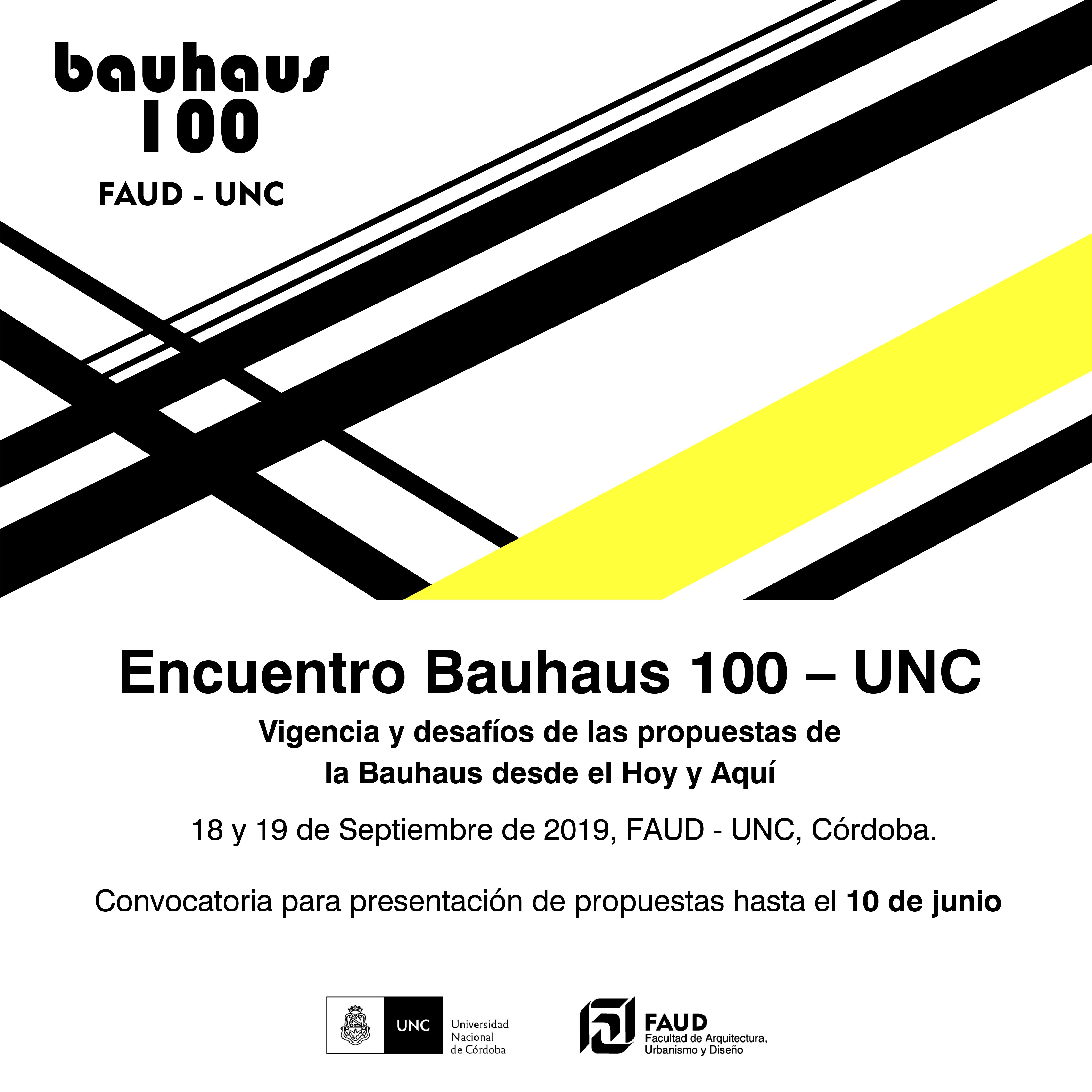 Se encuentra abierta la convocatoria del encuentro Bahaus