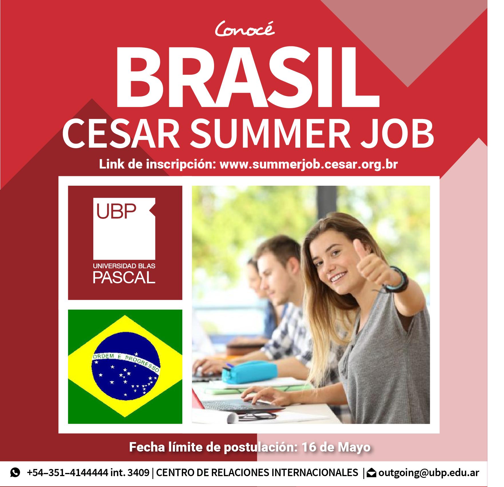¡Participá por una pasantía rentada en Brasil!