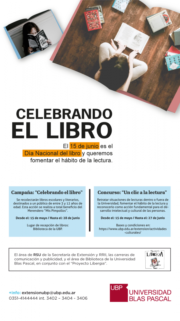 Celebrando el libro y un clic a la lectura