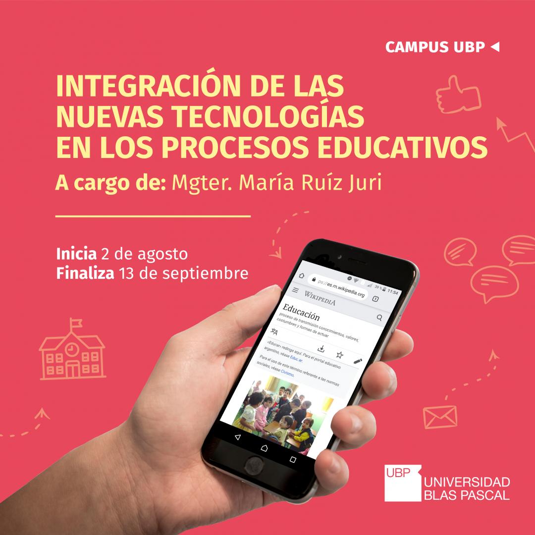 Curso con puntaje docente: integración de las nuevas tecnologías educativas