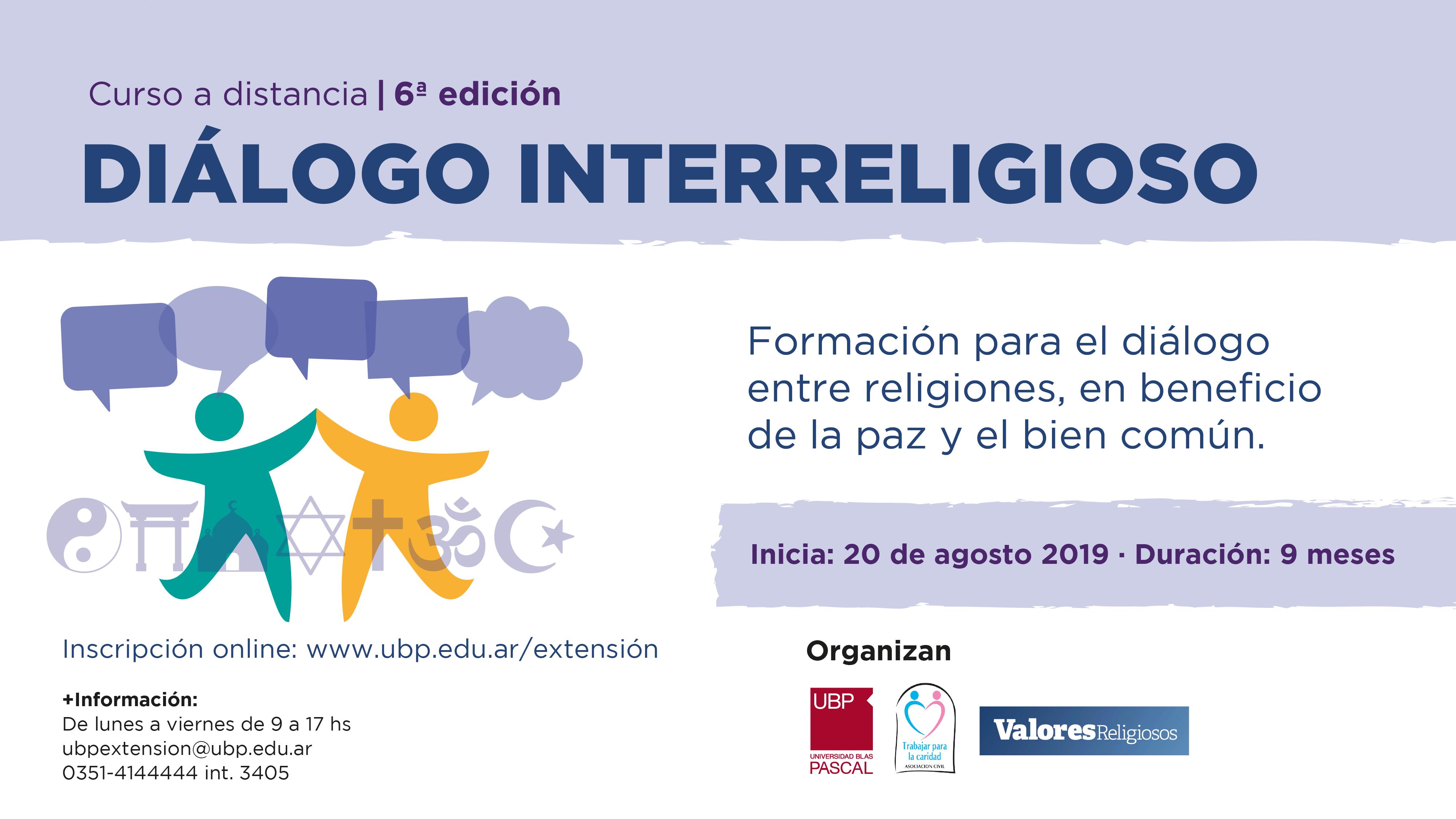 """Curso on line: """"Diálogo Interreligioso 6ta Edición"""""""
