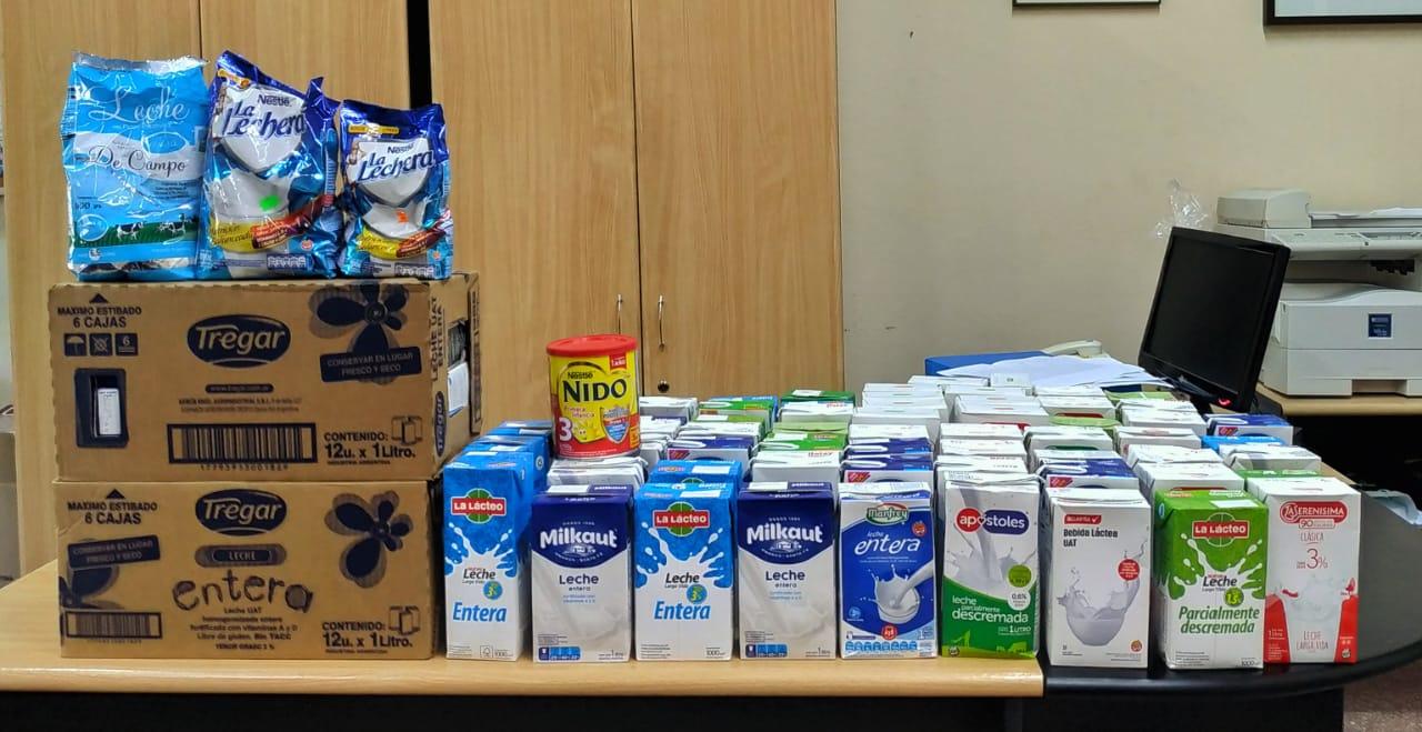RSU: más de 100 litros de leche fueron donados