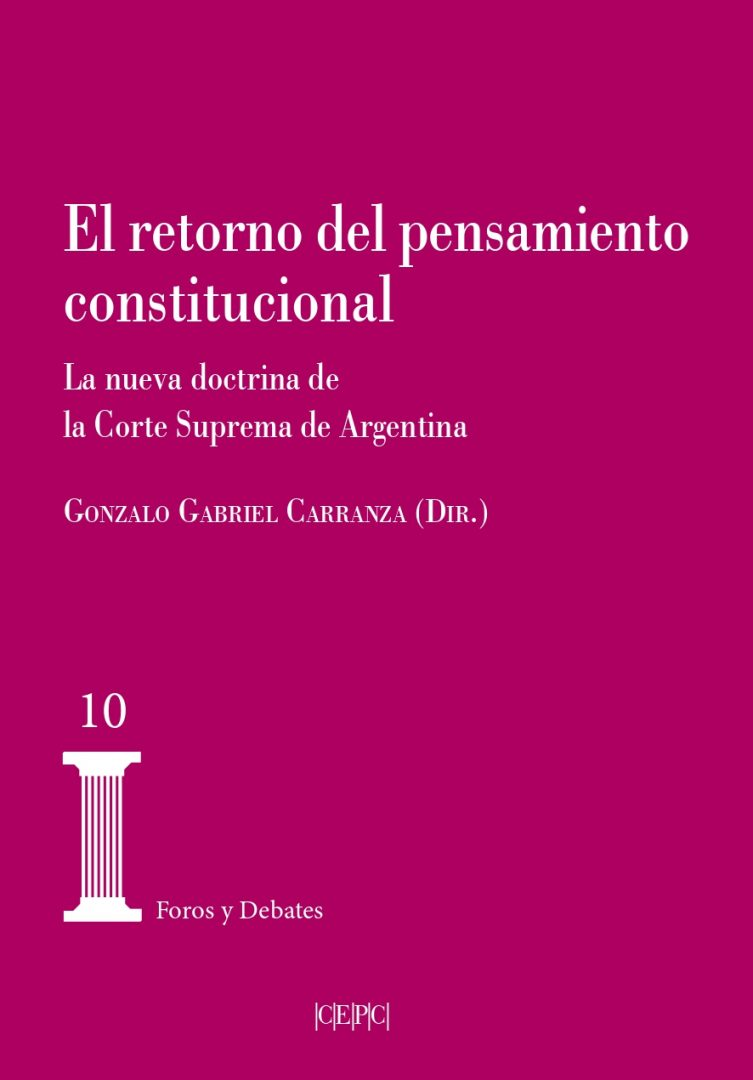 Nuevo libro sobre pensamiento constitucional