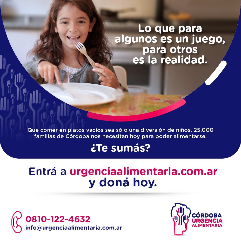 Lanzan la campaña Córdoba Urgencia Alimentaria
