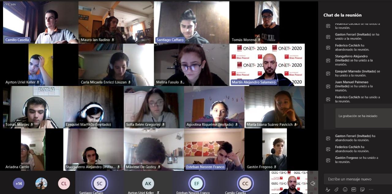 Destacada participación de estudiantes de todo el país en las ONIET