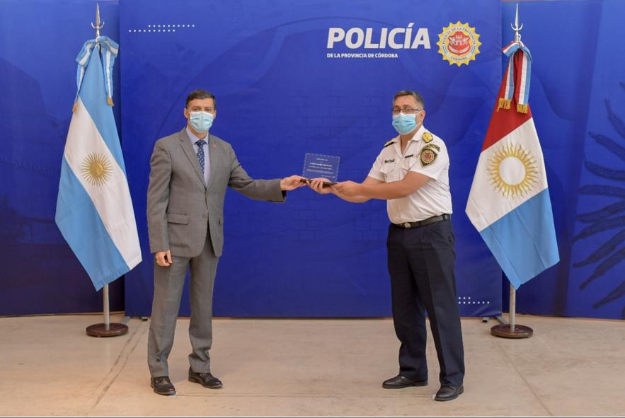 La UBP distingue a la División Accidentología Vial de la Policía