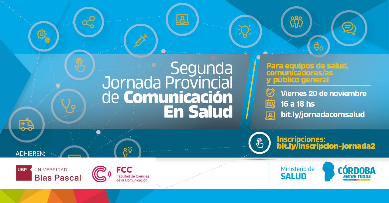 Llega la II Jornada Provincial de Comunicación en Salud