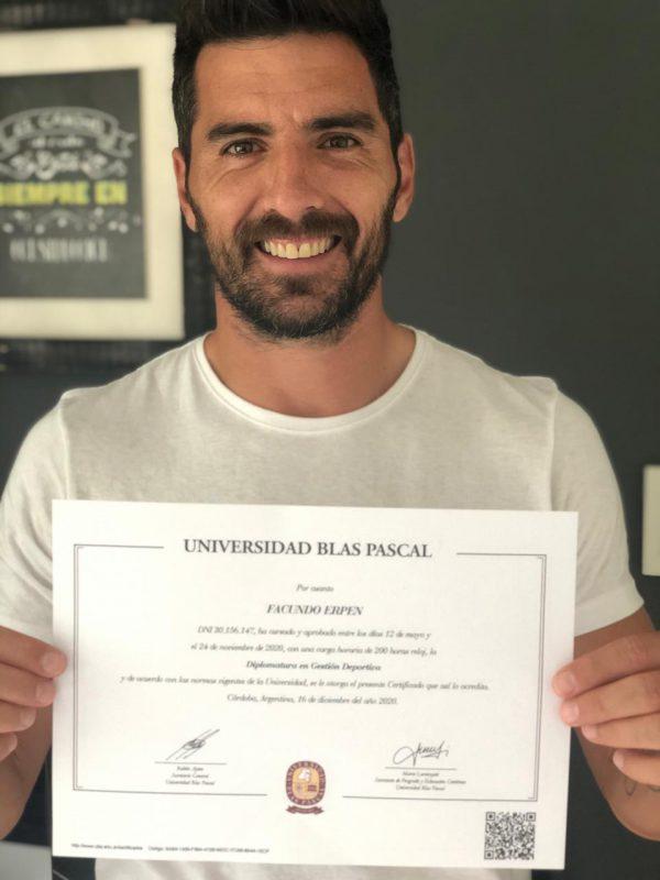 Un capitán ejemplar: Facundo Erpen se capacita en la UBP