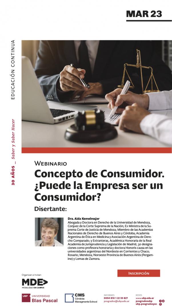 WEBINAR #ONLINE | Concepto de Consumidor. ¿Puede la Empresa ser un Consumidor?