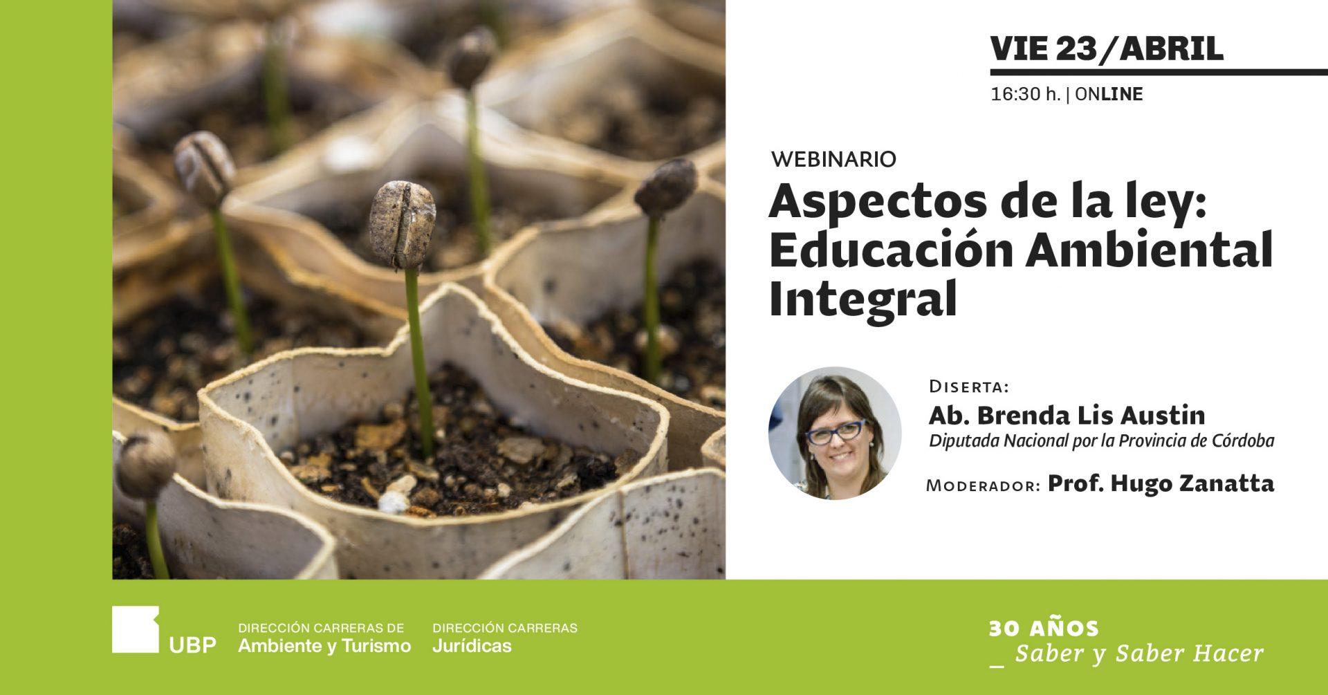 Webinario: Aspectos de la Ley Educación Ambiental Integral