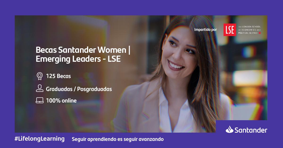Convocatoria: Becas Santander Women