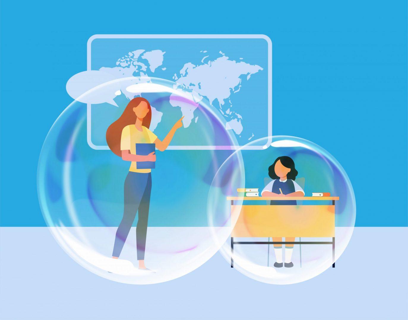 Ciclo: La Escuela en Burbujas. Aportes para educar en formatos híbridos